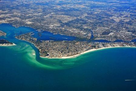 view on Florida from above