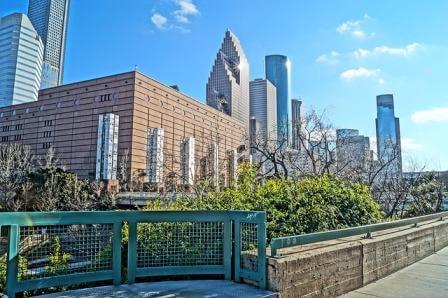 Houston park view downtown