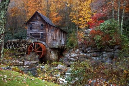 Mill in autumn in west virginia