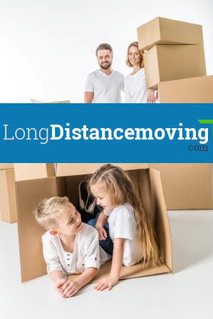 family packing in boxes
