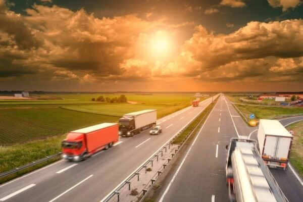 trucks moving on a highway nationwide