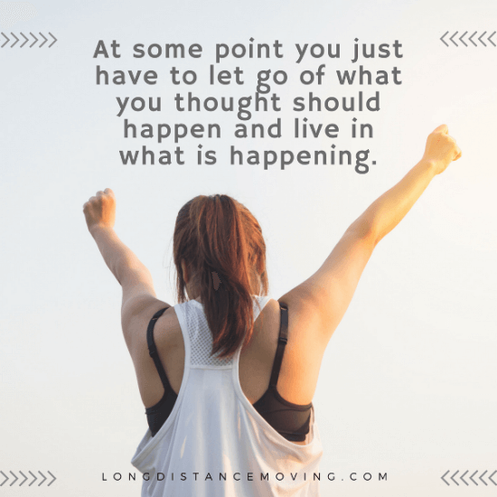 live in what is happening - quote