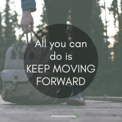 all you can do is keep moving forward