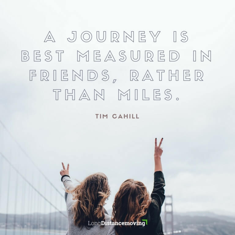 moving quote on journey and friends