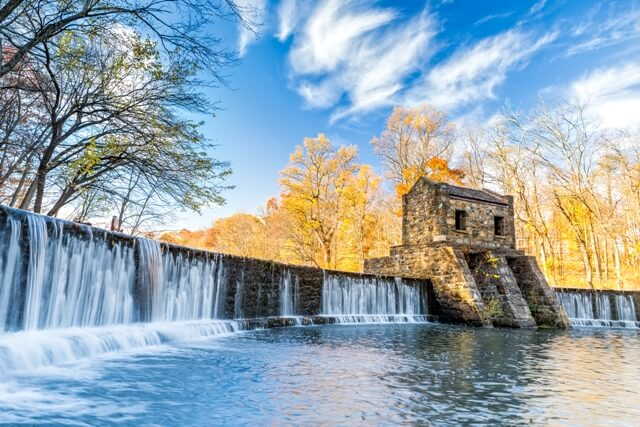 speedwell dam waterfall in morristown