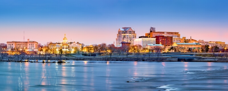 trenton panoramic view at dawn