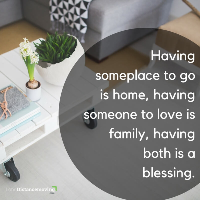 Having some place to go is home...