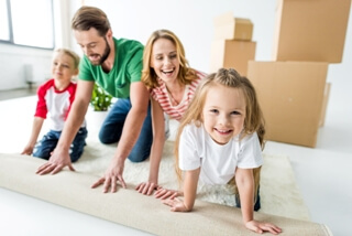 Family happy to move long distance