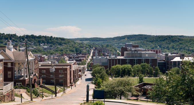 Morgantown street view, West Virginia